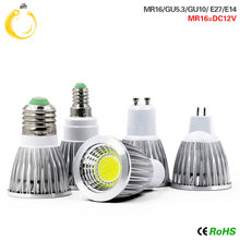 GU10 Super Bright LED Bulb Light Dimmable MR16 Led Ceiling light Warm/White 85-265V 9W 12W 15W GU5.3 COB LED lamp  E27 E14 led