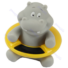 Baby Infant Bath Tub Thermometer Water Temperature Tester Toy Hippo Shape New(China)