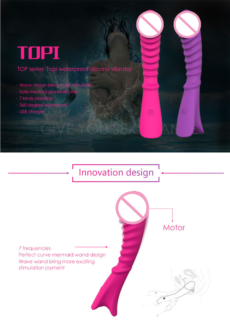 Au Reve Silicone Vibrator USB Charging 7 Speed Vibration Vibrating Realistic Dildo End Adult Sex Toy for Women Couple 1
