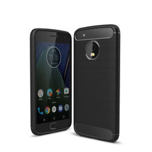 Latest for Motorola moto G5 plus caus slim Hybrid Super armor Carbon Fiber Texture Brushed soft tpu Silicone Cover case ( XX89)