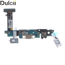 Dulcii Mobile Phone Parts for Samsung Galaxy S6 SM-G920I Replacement Parts OEM Charging Port Flex Cable for Galaxy S 6 G920 I(China)