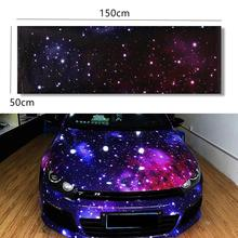 50 x 150cm Polyvinyl Chloride Starry Sky Vinyl Car Wrap Printed Graphic Film Sheet Sticker Decal Roll DIY