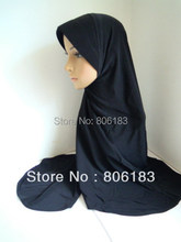 m1891 Big Size length to Waist Pure Color Muslim Hijab  separated great package assorted color in one dozen Islamic Hijab