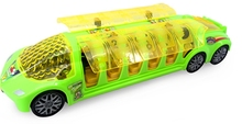 The electric light universal music super sightseeing Children's educational toys city bus bus model