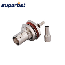 Superbat  BNC waterproof connector Crimp Jack with bulkhead o-ring for Cable RG179,RG174,RG316,LMR100