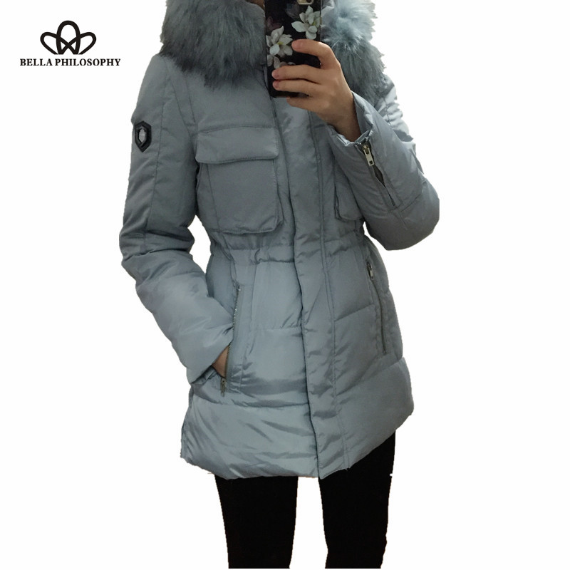 2015 winter women jacket long down Coat large collar parka plus size thick Nagymaros fur collar down jacket real photo pinkОдежда и ак�е��уары<br><br><br>Aliexpress