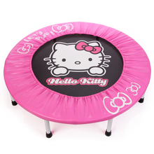 Hello Kitty 96*96*22.8cm Lovely Pink Trampolines bounce bed Euro fitness Equipments Jumping Sport trampoline For Girls(China)