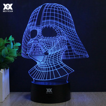 Star Wars Lamp Darth Vader Anakin Skywalker 3D Lamp BB-8 LED Novelty Night Lights USB Light Glowing Child's Gift HUI YUAN Brand(China)
