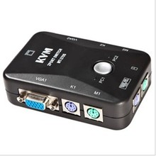 2 prot USB 2.0 manual KVM switch/ 250Hz KVM Box Video Monitor Mouse Keyboard VGA  without cable