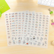 4 Sheets Kawaii Emojy Decor Sticker Laptop Keyboard Adhesive DIY Craft Sticker Album Calendar Decorative Stick Label Kids Gift