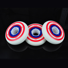 4 Piece 83A Soft FSK Inline Skate Replacement Wheels 72mm 76mm 80mm FreeStyle Slalom Skate Rodas Figure Roller Skating Ruedas