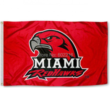 Miami University College Large Outdoor Flag 3ft x 5ft Football Hockey College USA Flag(China)