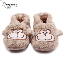 New Arrival Plush Material Elephant Monkey Rabbit Cute Animal Design Soft Sole Cotton Newborn Baby Girls Boys Shoes 0-15 Months