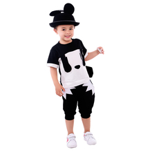 Summer cartoon baby Boys clothes embroidery cotton short sleeve Kids sports suit T-shirt+shorts fashion children clothing sets