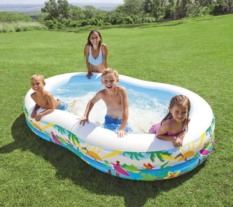 intex Water Sports splayed inflatable swimming pool child play pool,size 262*160*46CM<br><br>Aliexpress