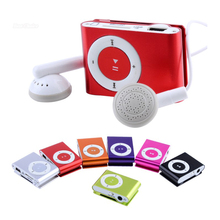High Quality Metal mp3 Player MINI Clip MP3 Player With Micro TF/SD Card Slot mini MP3 Music Player + USB Cable free delivery