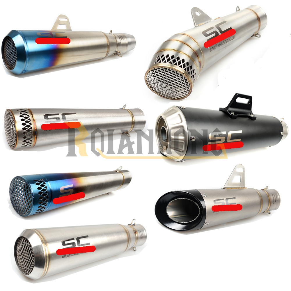 36-51mm Motorcycle Exhaust Muffler Pipe Escape Moto Exhaust for Triumph SPEED TRIPLE TIGER 1050/Sport 800 XC/XCX/XR/XRX all year<br>