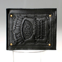 Jack daniels, boys and girls students personality fashion short transverse section 2 fold wallet DFT-1525(China)