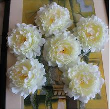 Free Shipping 20pcs/lot open peony flower heads Artificial silk rose flower wedding flower decorations home market decoration(China)