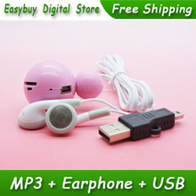 1pcs/lot New Style High Quality Mini Mickey Mouse Card Reader MP3 Music Player Gift MP3 Players With Earphone&Mini USB