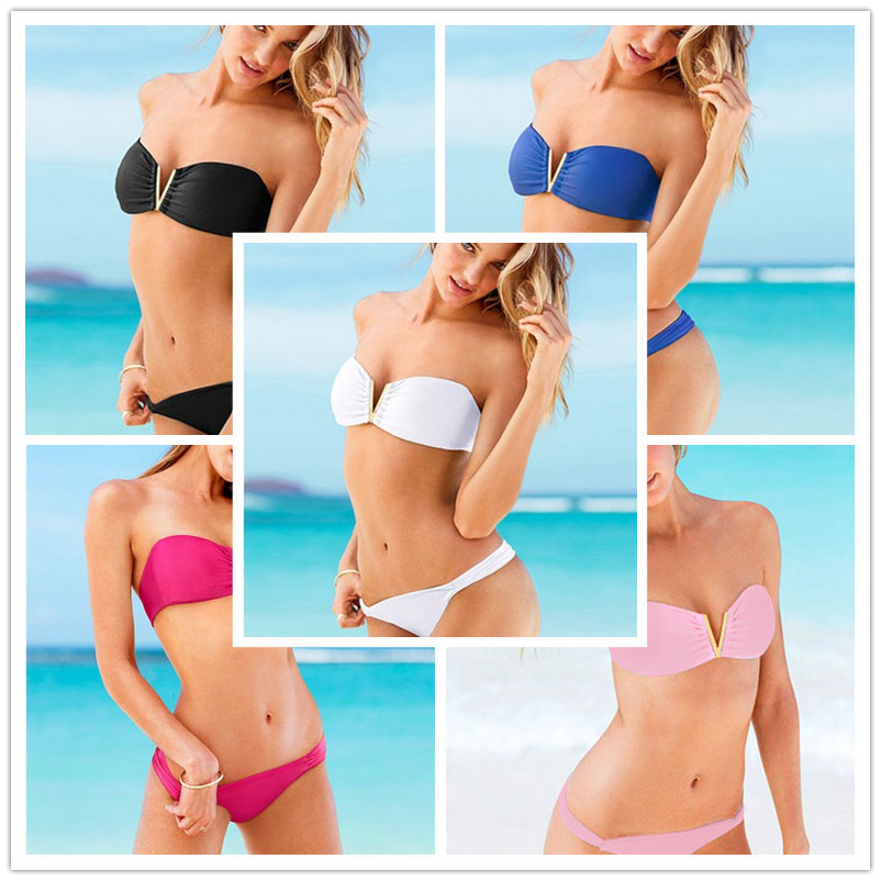 2016 Women's Swimwear Swimsuit  Neoprene Bikinis Set Brazilian Biquini Push Up Ladies Bath Suit