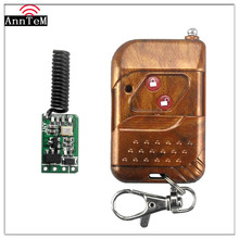 Anntem brand RF 1CH 433mhz mini Wireless Learning Remote Control Switch 12v DC 3V to 24V Miniwatt 2 button Receiver+Transmitter(China)
