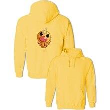 Kawaii Pokemon Weedle Pattern Sweatshirts Women's Men's Hoodies Harajuku Cartoon Pullover Tops Cosplay Cotton Autumn Winter Coat