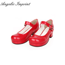 Buy Japanese Sweet Lolita Maid Cosplay Shoes Chunky Heel School Girl Uniform Mary Jane Pumps for $60.69 in AliExpress store