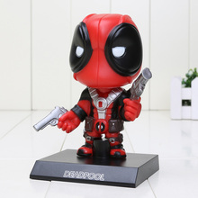 13.5cm Deadpool Figure Toy Wacky Wobbler Bobble Head PVC Action Figures toys opp bag(China)