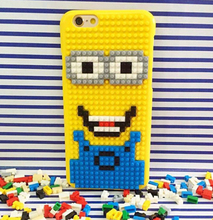 Wellendorff for iPhone 7 6 6S Plus Legos Cartoon Case Marios Pixels Style Funny Bricks Super Marios Cute Minions Cover