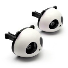 2Pcs Car Air Freshener pandal Car Perfumes Fragrance Air Conditioning Vent car styling Accessories Panda Eyes Will Jump