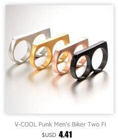 HTB1 sO4cpTM8KJjSZFlq6yO8FXal - V-COOL Punk Мужская Байкер Два Пальца кольца Личность хип-хоп нержавеющая сталь кастет мода ювелирные изделия кольца VR133
