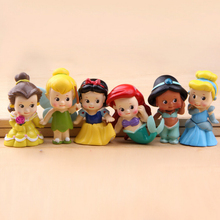 6pcs/set Princess Mermaid Figures Decoration Action Figures Collection Model Toys 6cm(China)