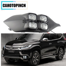 4Eyes Super Brightness Car Accessories ABS 12V LED Daytime Running Light DRL Lamp For Mitsubishi Pajero Sport 2016 2017(China)
