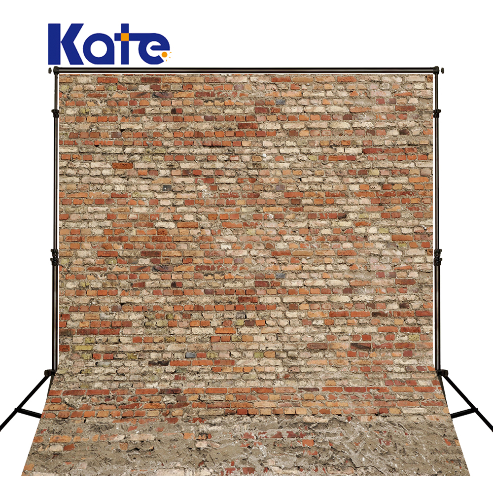 Kate Digital Photo Studio Background Backdrop Retro Red Brick Wall For Children Photography Background<br>
