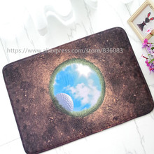 Front door mat bathroom mat soft warm strong water absorption 3D The golf ball HOLE  carpet 2 with anti-slip back