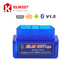 Super Mini ELM 327 V1.5 Bluetooth OBD2 OBD II Works On Android Torque 3 Years Warranty Free Shipping