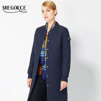 Primavera capa de las mujeres de estilo europeo de las mujeres parkas chaquetas y abrigos de 2017 nuevos diseños miegofce femeninos delgados parka chaquetas de las mujeres calientes