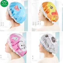Cute Cartoon Shower Cap Waterproof Shower Cap Environmental Protection Lace Elastic Band Hat Bath Cap Bathroom Products(China)