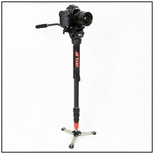 DHL JY0506 Aluminum Alloy Professional Monopod For Video Camera Tripod For Canon Nikon Video  Tripod Head Carry Bag wholesale