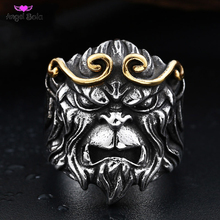 New Design TV Play Journey To The West Style Ring Personality Monkey King Jewelry Stainless Steel Men Jewelry LR-0B11