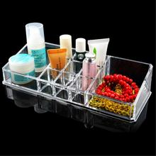 New Design 11 Grids transparent Acrylic Storage Box Crystal Cosmetics Organizer Makeup Case Drawer Display