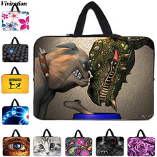 "Zipper Latest Notebook Laptop Case 15.6"" Sleeve Bag Viviration Mens Handle Computer Bag 10 15 13 12 17 14"" Print Fashion Cover(China)"