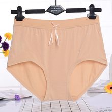 Buy KL203 Plus size knickers women bow soft modal seamless panties high waist underwear calcinha