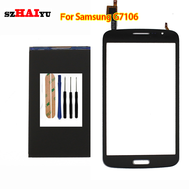 Free Shipping Test Original LCD Touch Panel for Samsung Galaxy Grand 2  G7106  LCD Display Touch Screen Digitizer Panel<br><br>Aliexpress
