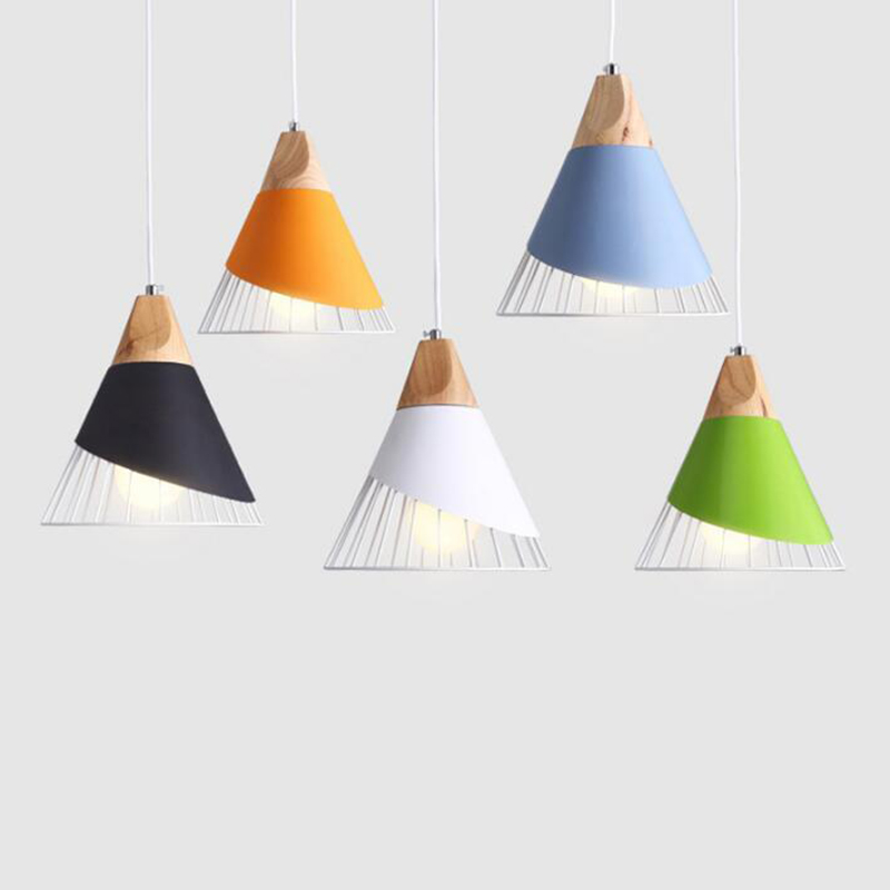Modern single head Pendant Lights aluminum&amp;wood Lampshade personality Bar / Cafe / Living room / restaurant <br>