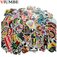 100 PCS / Pack Mixed car stickers car styling funny car sticker Motorcycle Bike Travel Doodle accessory car cover detector decal(China)