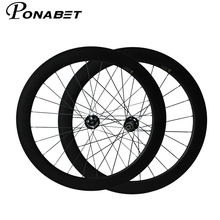 PONABET 700C full carbon wheels/bike wheelset 60mm tubular durable carbon fiber 23mm width with Novatec Disc hub from Taiwan(China)