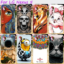 Hard Plastic&Soft TPU Silicones Phone Cover For LG Google Nexus 5 E980 D820 Nexus5 D821 Cases Cool Skull Loving Minions Hood