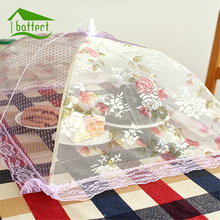 Lace Gauze Food Cover Umbrella Style Picnic Anti Fly Mosquito Net Tent Hexagon Meal Cover Table Mesh Food Cover Kitchen Tools(China)